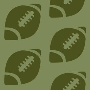 Half-Drop Green Football