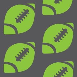 Half-Drop Lime Football