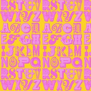 alphabet (pink/schoolbus)