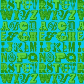 alphabet (green/blue)