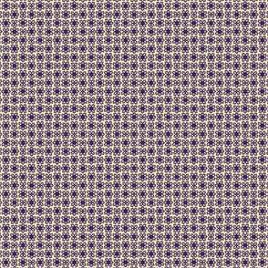 Floral Dot buff purple  © 2012 by Jane Walker