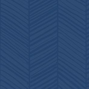 Herringbone M+M Navy Blue by Friztin