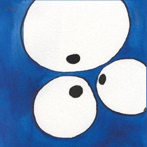 Eye to Eye to Eye, Blue, Wall Decal