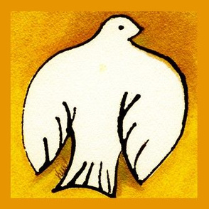 Dove on Gold Wall Decal