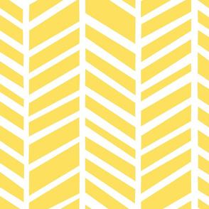 Herringbone Citron Zest Yellow by Friztin