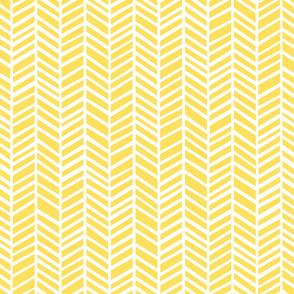 Herringbone Lemon Zest Yellow
