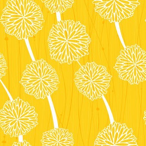 Pom Poms - Large Yellow by Friztin
