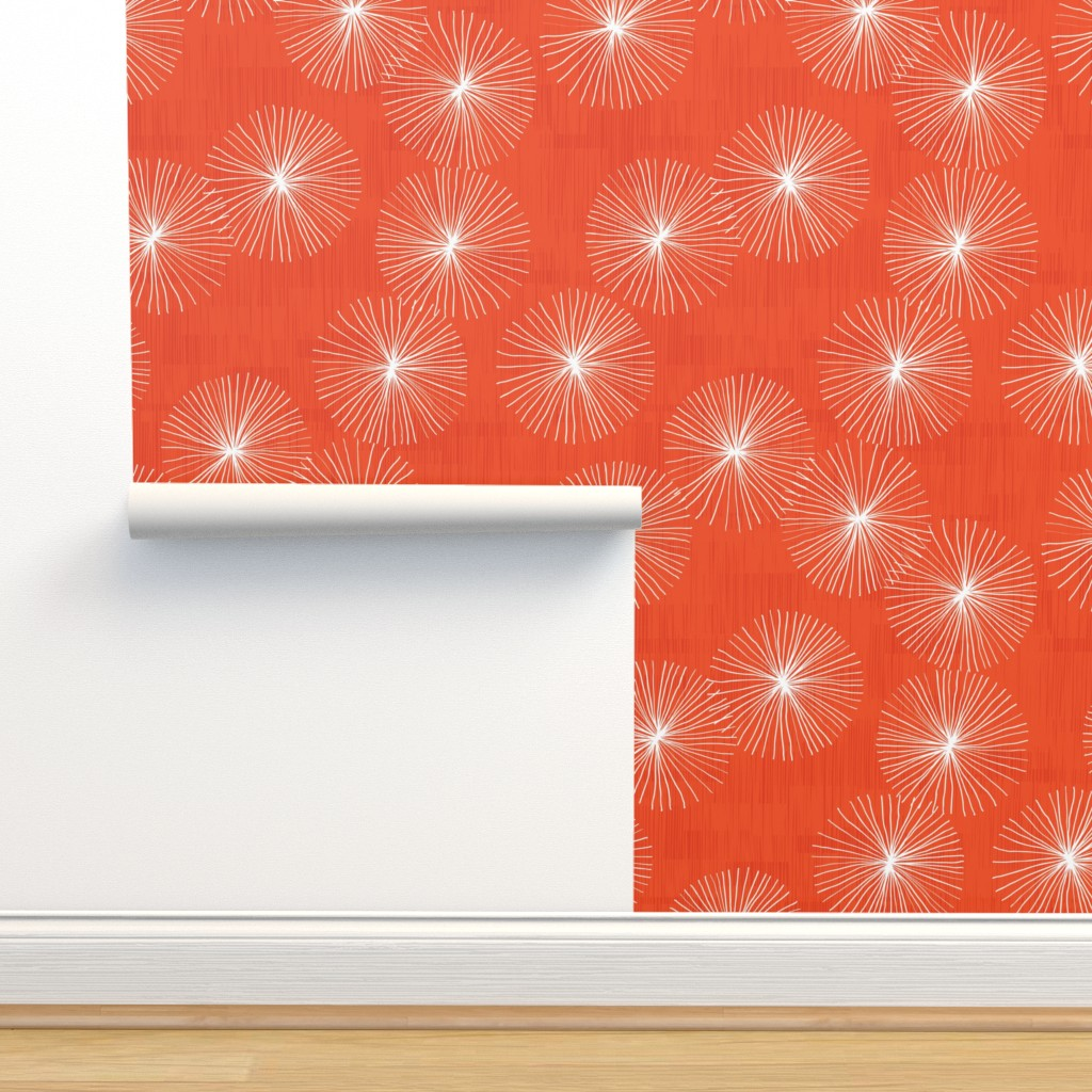 Isobar Durable Wallpaper featuring Dandelions M+M Watermelon 42 by Friztin by friztin