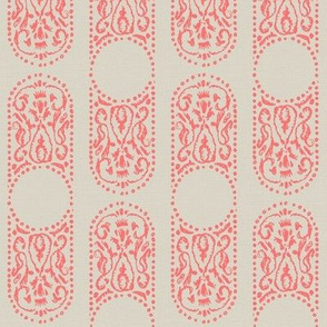 AMEERA - coral and linen