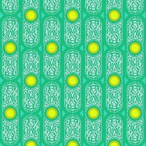 CARTOUCHE - BRIGHT emerald and lemon zest