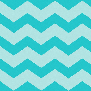 Wide Turquoise Blue Chevron
