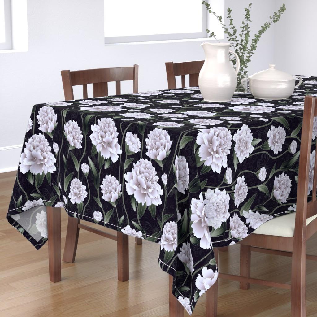Bantam Rectangular Tablecloth featuring valentine gift tags by kociara