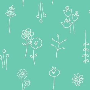 Flower Show (teal)