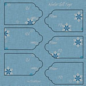 Any Winter Holiday Gift Tags Snowflakes To and From