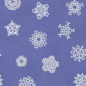 cut paper snow-stars