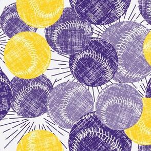Baseballs - Purple / Gold