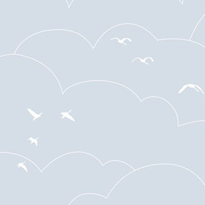 flying high - pale gray blue