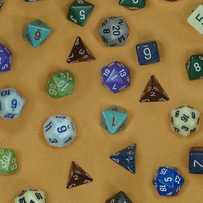 Gamer dice brown
