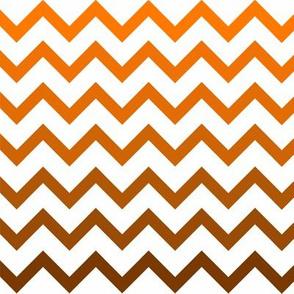 Ombre Orange Chevron Pattern Small Fabric