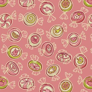 candy - pink and green