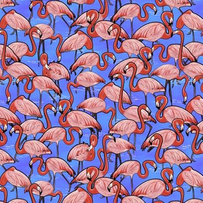 Flamingo Flock Blue