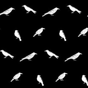 Scribble Goth - Albino Crows
