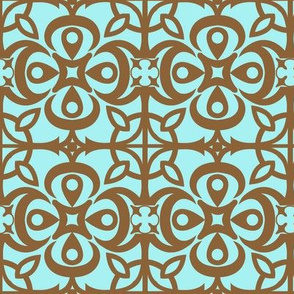 """""""Cathedral Blossoms"""" in brown"""