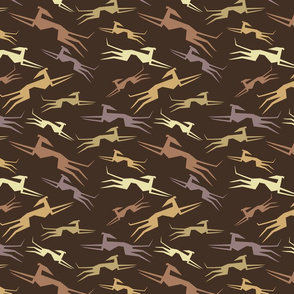 Sighthounds in brown