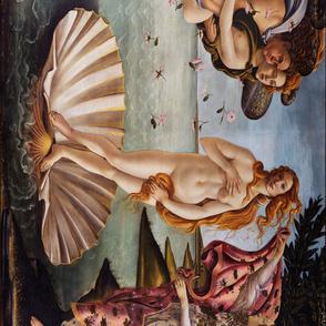 3 YARDS long repeat: Sandro Botticelli - Birth of Venus