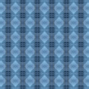 Denim Blues Vertical Diamond Stripes - Debra Cortese Designs