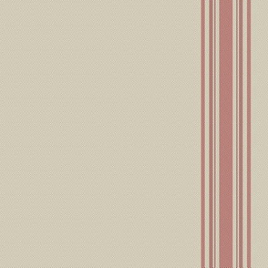 french feed sack stripe red