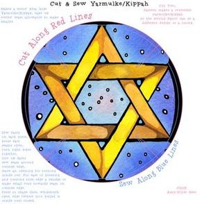 Stained Glass Star Yarmulke Pattern