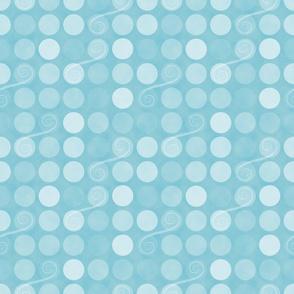 Snowflake Dots and Swirls
