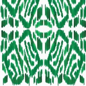 Modern Green Ikat