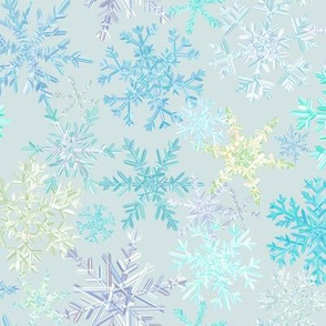 snowflakes - icy colorway
