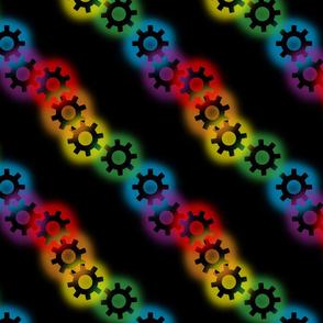 Rainbow Gears on Black