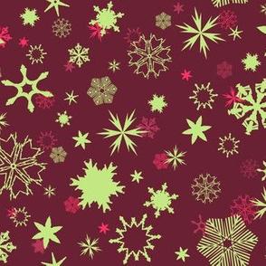 Snowflakes - Scarlet