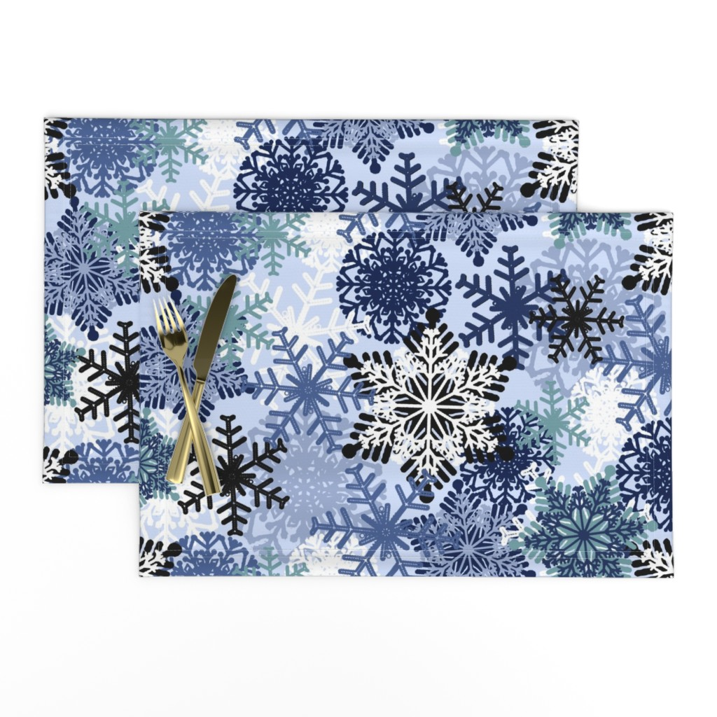 Lamona Cloth Placemats featuring Snowflake by susanna_nousiainen