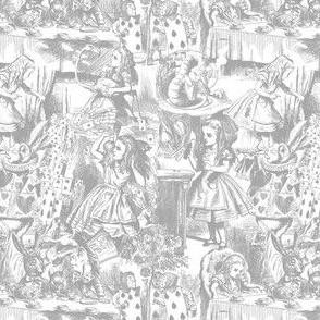 Alice's Adventures in Toile - Gray