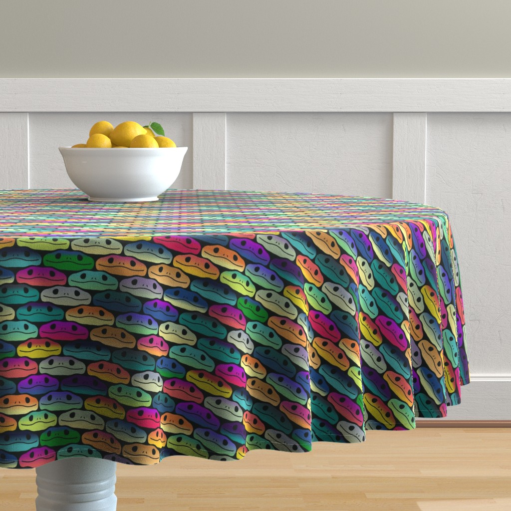 Malay Round Tablecloth featuring Iridescent Snakes by mongiesama