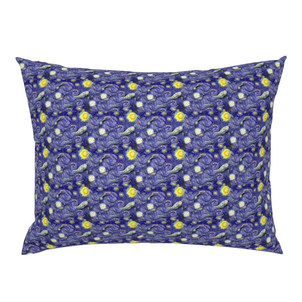 Campine Pillow Sham featuring Van Gogh's Starry Night | Sky Only | Dark Blue Version by bohobear