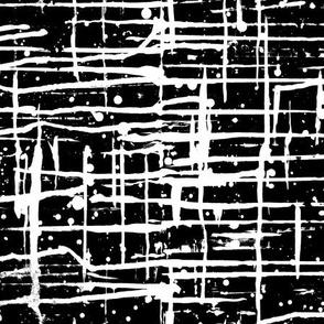 Ink Splatter II. White and Black