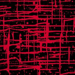 Ink Splatter II. Red and Black