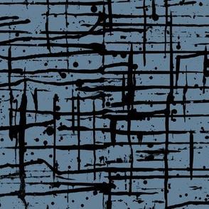 Ink Splatter II. Black and Blue