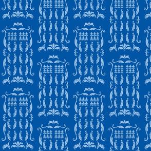 Blue Box Damask blue blue