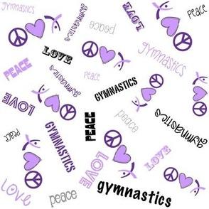 Peace Love Gymnastics Purple