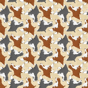 Trotting Springer Spaniels - tan