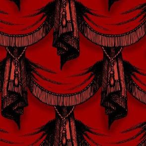 Gothic drapes - blood