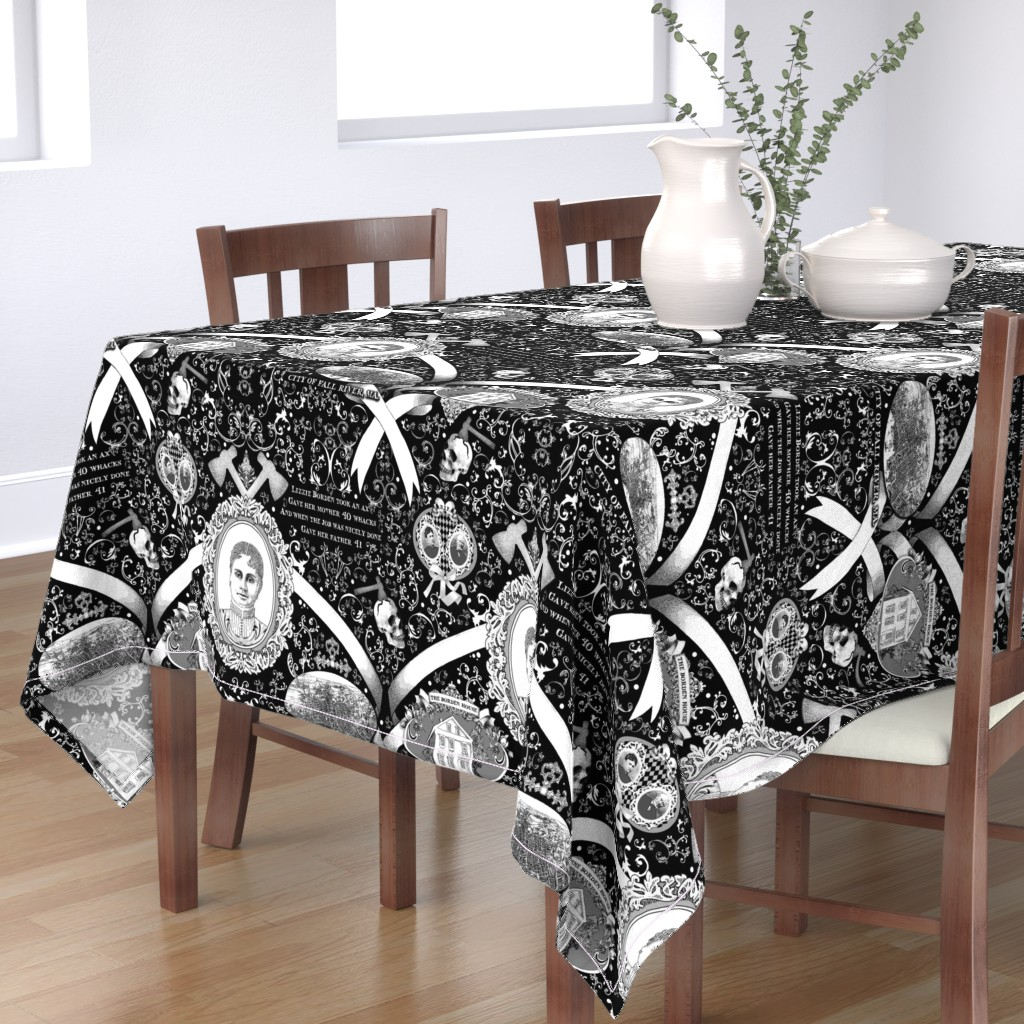 Bantam Rectangular Tablecloth featuring Lizzie Borden Overkill by golders