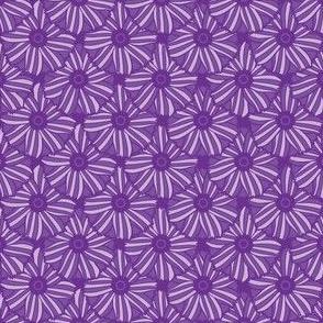 Boho Blossoms Tile (Purple)